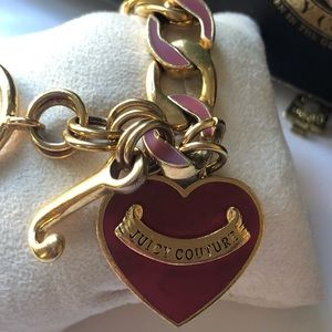 Juicy Couture Jewelry - Juicy Couture Gold tone Heart Charm Bracelet